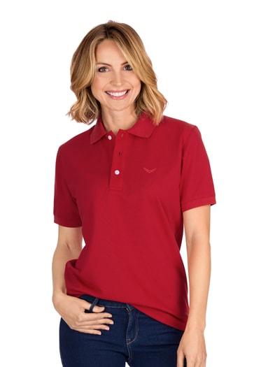 Damen Polo-Shirt Piqué-Qualität Größe: 4XL Material: 100 % Baumwolle, Ringgarn supergekämmt Farbe: kirsch