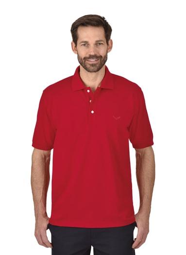 Herren Polo-Shirt Piqué-Qualität Größe: L Material: 100 % Baumwolle, Ringgarn supergekämmt Farbe: kirsch