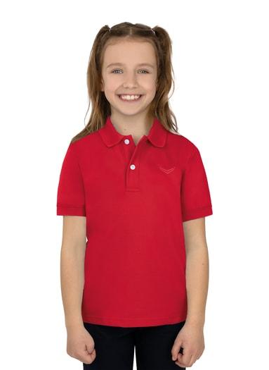 Mädchen Polo-Shirt Piqué-Qualität Größe: 92 Material: 100 % Baumwolle, Ringgarn supergekämmt Farbe: kirsch