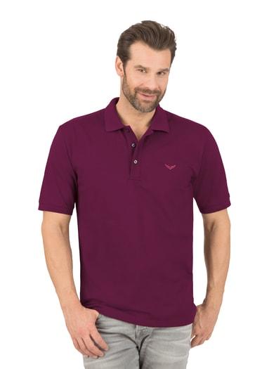 Herren Polo-Shirt Piqué-Qualität Größe: L Material: 100 % Baumwolle, Ringgarn supergekämmt Farbe: sangria