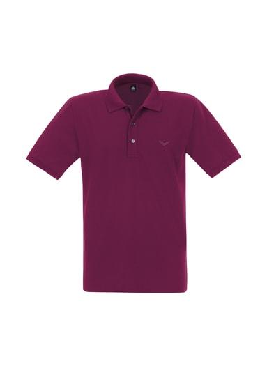 Damen Polo-Shirt Piqué-Qualität Größe: L Material: 100 % Baumwolle, Ringgarn supergekämmt Farbe: sangria