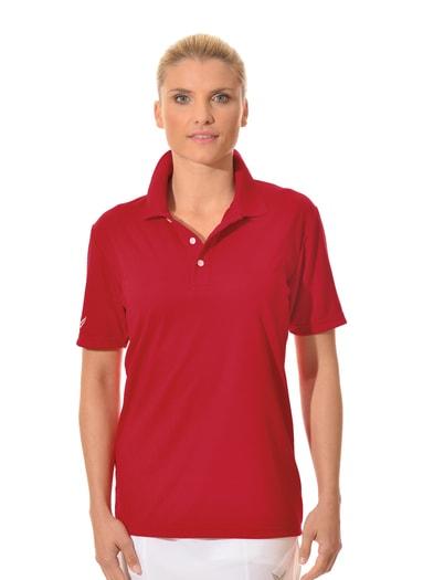 Damen Polo-Shirt COOLMAX Größe: 4XL Material: 100 % Polyester Farbe: kirsch