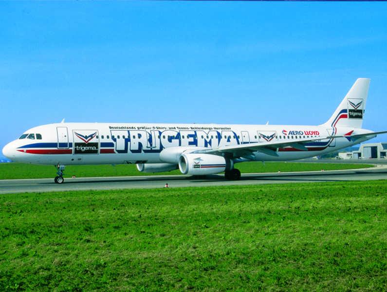 Werbeplattform Flugzeug