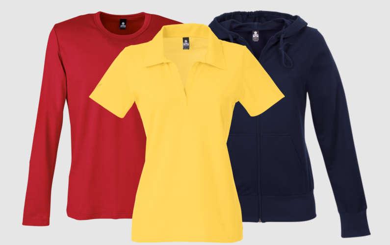 Rot, Gelb und Blau in Kombination