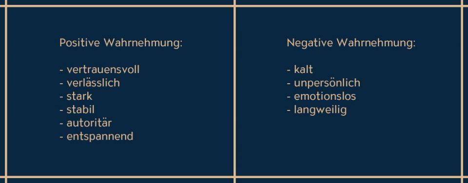 Die Eigenschaften von Blau