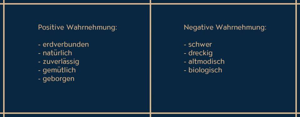 Die Eigenschaften von Braun