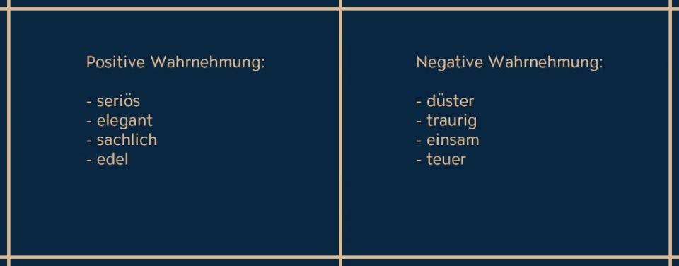 Die Eigenschaften von Schwarz
