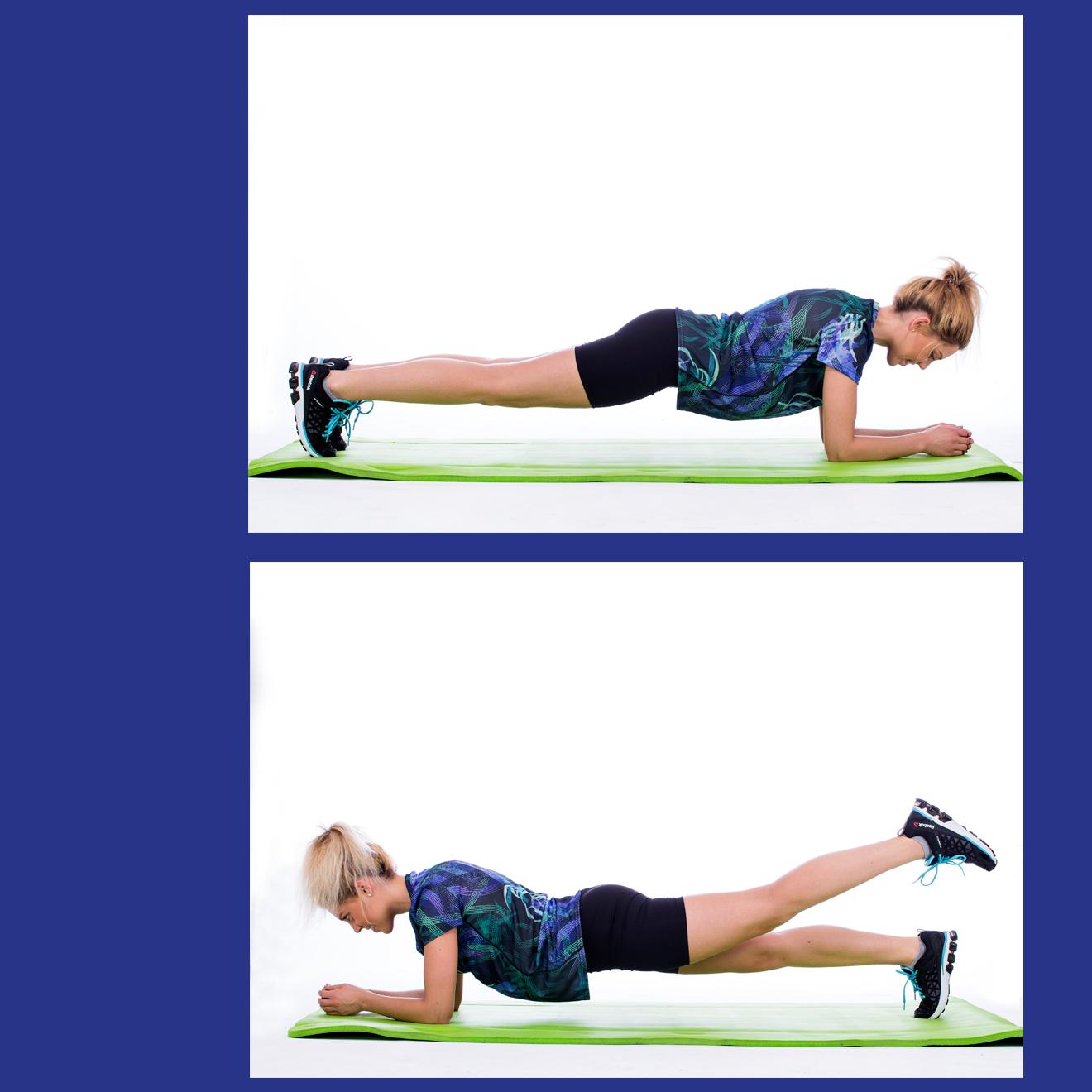 Skigymnastik Übungen, Sommertraining für zu Hause, Übungen ohne Schnee, Skifahren, Skitraining für den Sommer; Planking; Bauchtraining