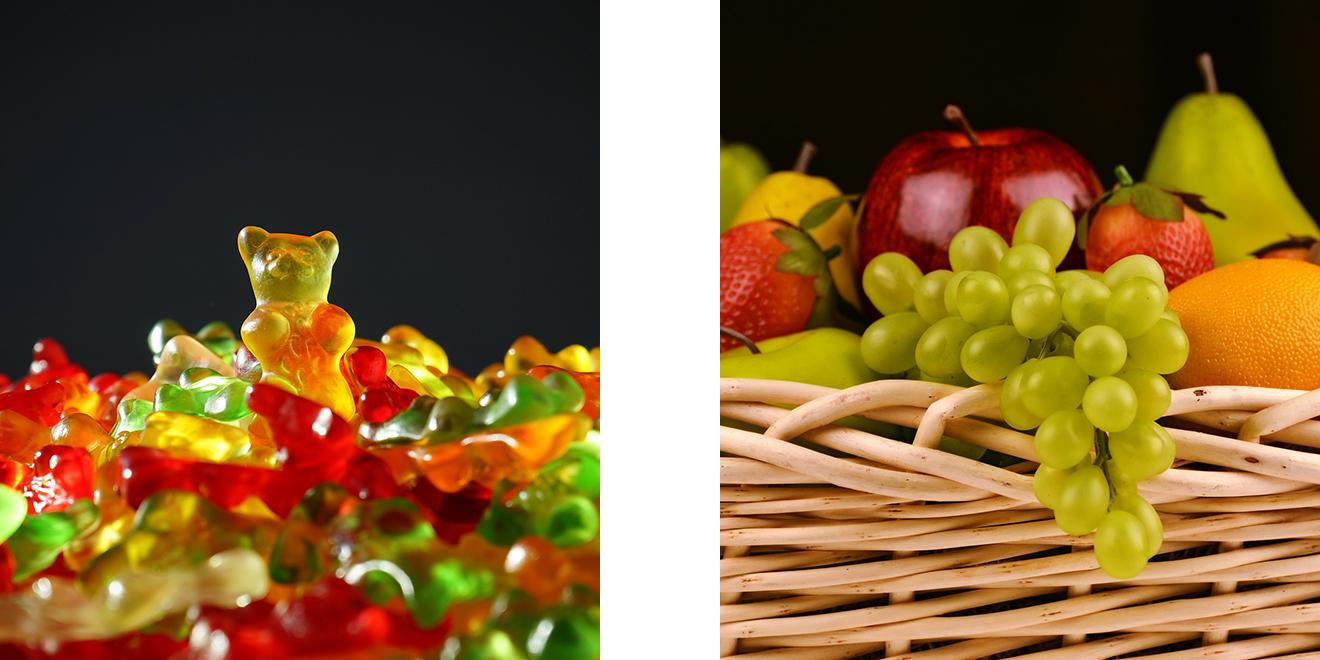 Ernährung, gesund, Büro, Alltag, Ernährung im Büro, Ausgewogen essen, Mittagstief, Konzentration, Power, Superfood, Obst, Gemüse, Trinken