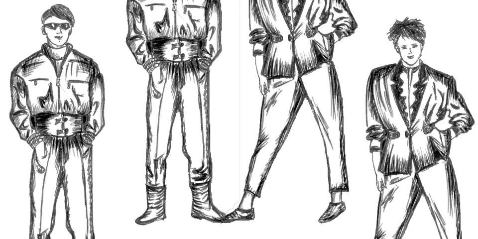 Statements der 70er Jahre wurden durch die spielerischen Schnitte in den 80er abgelöst.