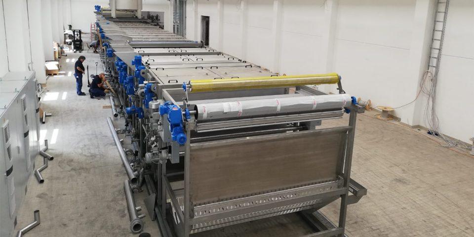 Die neue Bleich-Wasch-Kombi-Anlage von TRIGEMA.