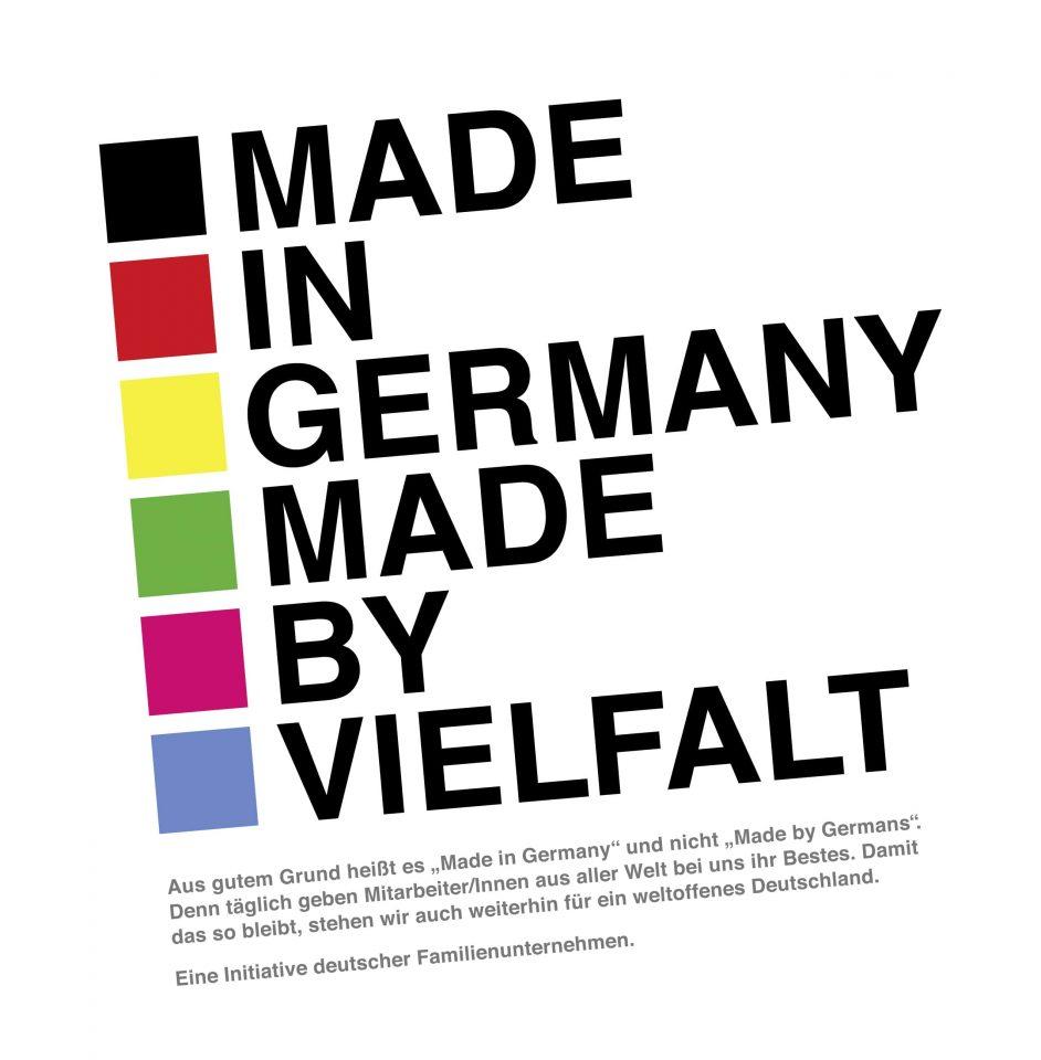 """Anzeige """"Made by Vielfalt"""" an der 50 deutsche Familienunternehmen teilnahmen."""